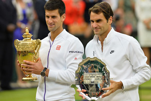 Djokovic y Federer (Foto: Getty Images vía ESPN)